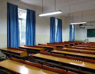 教学楼布艺帘